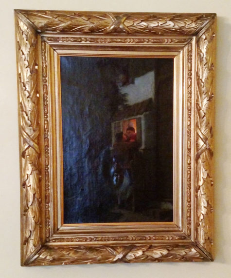 antique 1781 oil painting