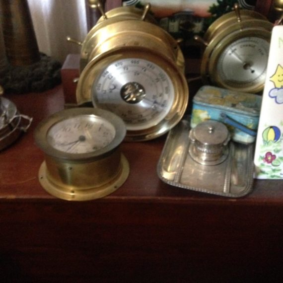 antique ships clock