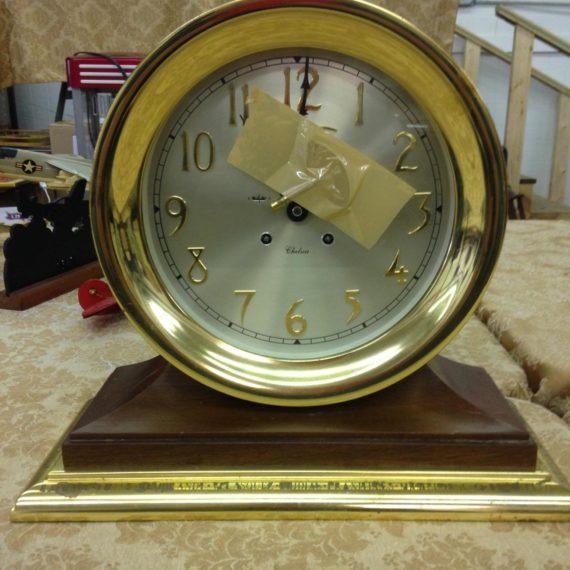 antique ships clock