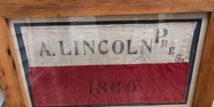 Lincoln election memorabilia
