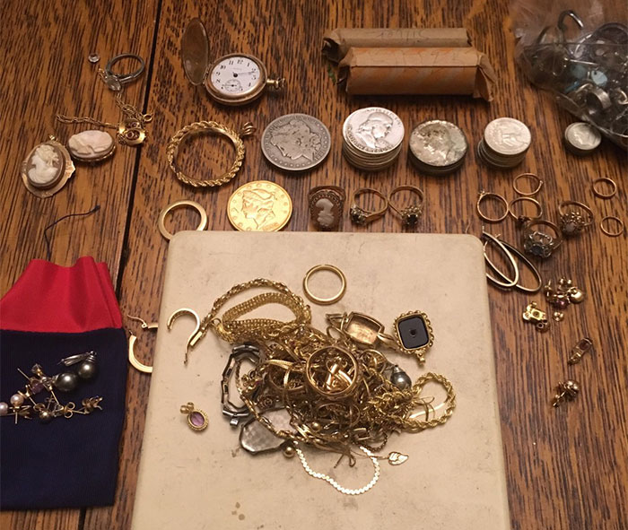 photo of cold and silver coins and jewelry