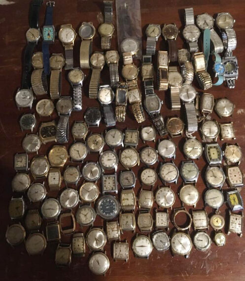 vintage watch collection