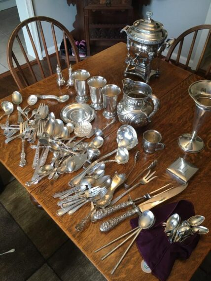 sterling silver flatware, goblets and more