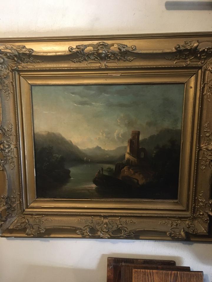 vintage Italian painting